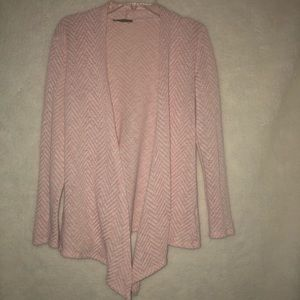 Market & Spruce drape light pink sweater